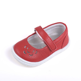 """Caroch """"Petra"""" Red Leather Shoes"""