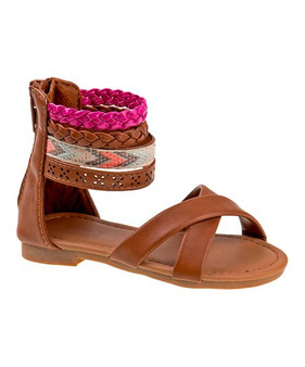 Laura Ashley Gladiator Brown Sandals