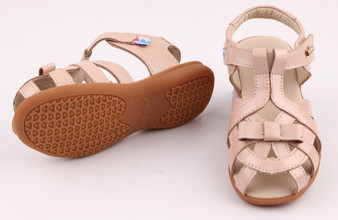 """Pre Order Freycoo """"Tilly"""" pink leather girls sandals"""
