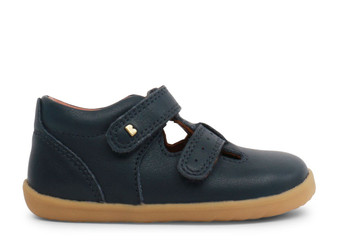 Bobux Step Up Jack and Jill Navy leather Shoe
