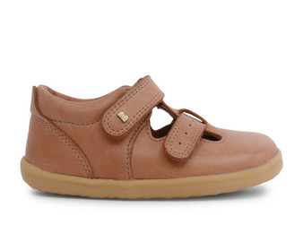 Bobux Step Up Jack and Jill Caramel leather Shoe