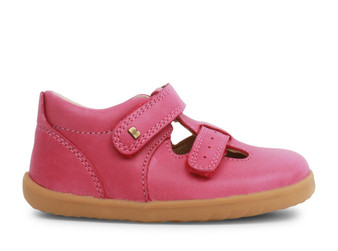 Bobux Step Up Jack and Jill Pink leather Shoe