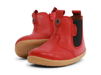 Bobux Step Up Jodhpur Red leather Boot