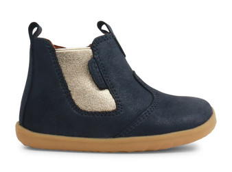 Bobux Step Up Jodhpur Navy Shimmer leather Boot