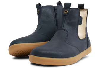 Bobux Kid Plus Johdhpur Leather Navy Shimmer Boots