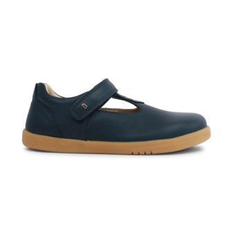 Bobux Kid Plus Louise Leather Navy T Bar shoes