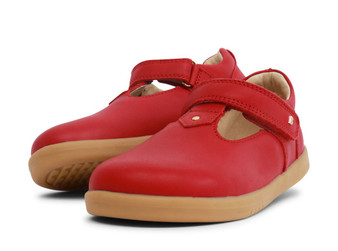 Bobux Kid Plus Louise Leather Rio Red T Bar shoes
