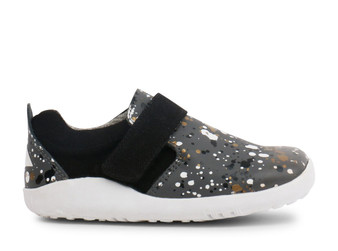 Bobux I Walk Aktiv Spekkel Smoke Splatter Leather Shoe