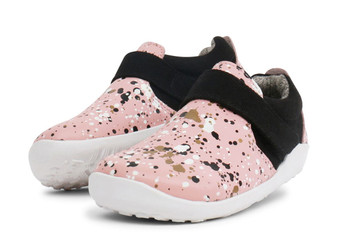Bobux I Walk Aktiv Spekkel Pink Splatter Leather Shoe