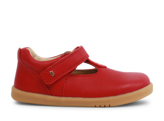 Bobux I Walk Louise T Bar Rio Red Leather Shoe