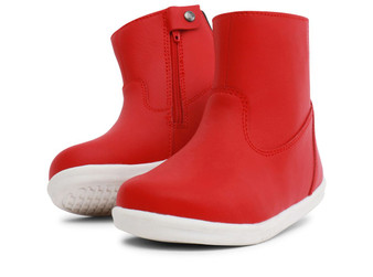 Bobux I Walk Paddington Waterproof Red Leather boots