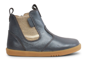 Bobux I Walk Jodhpur Charcoal Shimmer Leather boots