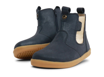 Bobux I Walk Jodhpur Navy Shimmer Leather boots