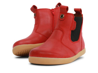 Bobux I Walk Jodhpur Red Leather boots