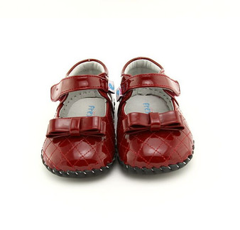"Freycoo ""Betty"" Red Soft Sole Leather Shoes"