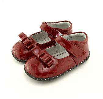 """Pre Order Freycoo """"Betty"""" Red Soft Sole Leather Shoes"""