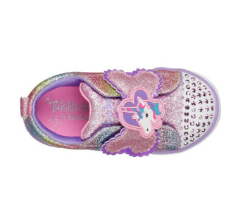 Skechers Twinkle Toes Sparkle Pals unicorn toddler Light Ups