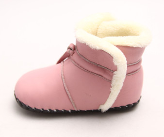 "Freycoo ""Comf"" Pink Leather Soft Sole Boots"