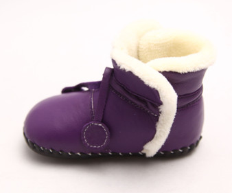 "Freycoo ""Comf"" Purple Leather Soft Sole Boots"