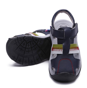"Pre Order Freycoo ""Stripe"" Navy Leather Sandals"