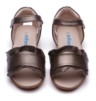 """Freycoo """"Pearl"""" gold leather girls sandals"""