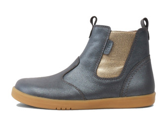 Bobux Kid Plus Jodhpur Leather Charcoal Shimmer Boots