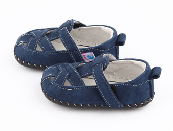 """Pre Order Freycoo """"Thomas"""" Navy Soft Sole Leather Shoes"""