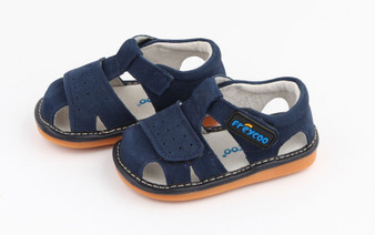 """Pre Order Freycoo """"Trent"""" Navy Suede Leather Sandals"""