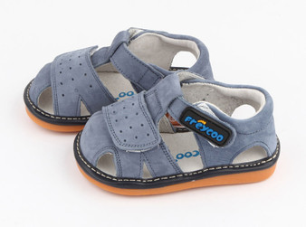 """Pre Order Freycoo """"Trent"""" Blue Suede Leather Sandals"""