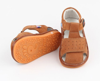 "Pre Order Freycoo ""Trent"" Caramel Suede Leather Sandals"