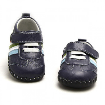 """Freycoo """"Franklin"""" Navy Leather Soft Sole Shoes"""