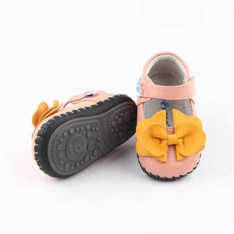 """Freycoo """"Eloise"""" Pink Soft Sole Leather Shoes"""