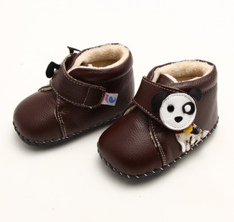 """Freycoo """"Pup"""" Brown Soft Sole Leather Shoes"""