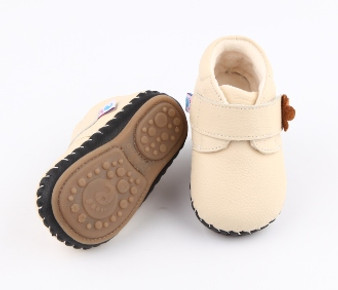 "Freycoo ""Bella"" Cream Soft Sole Leather Shoes"