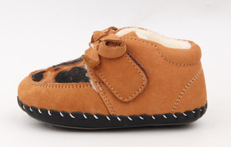 "Freycoo ""Animal"" Caramel Soft Sole Leather Shoes"