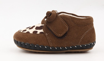 "Freycoo ""Animal"" Brown Soft Sole Leather Shoes"