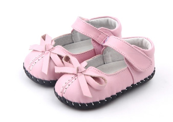 "Freycoo ""Clarissa"" Pink Soft Sole Leather Shoes"