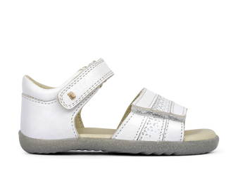 Bobux Step Up White Comet leather Sandals