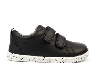 Bobux I Walk Grass Court Black Leather Shoes