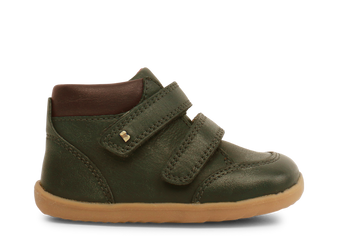 Bobux Step Up Timber Olive Leather boots