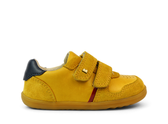 Bobux Step Up  Riley Chartreuse Leather Shoes