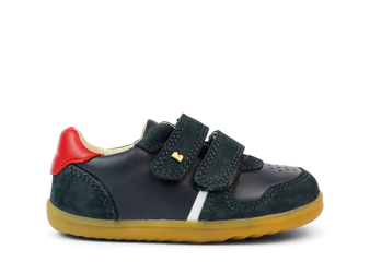 Bobux Step Up  Riley Navy Leather Shoes