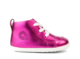 Bobux Step Up Alley-Oop Raspberry Leather Boot