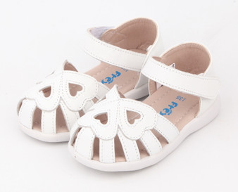 Freycoo Nel White Leather Sandals
