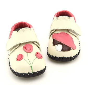 "Freycoo ""Emilie"" Cream Soft Sole Leather Shoes"