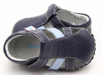 """Pre Order Freycoo """"Loui"""" Navy Leather Soft Sole Sandals"""