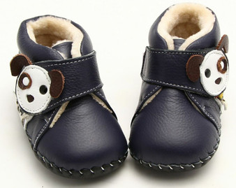 "Freycoo ""Pup"" Navy Soft Sole Leather Shoes"