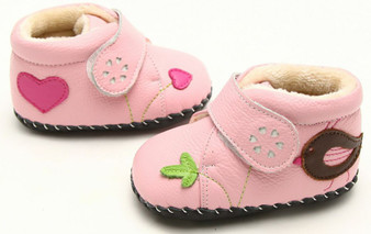"""Freycoo """"Maisie"""" Pink Soft Sole Leather Boots"""