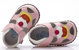 "YXY ""Cupcake"" Pink Leather Soft Sole Shoes"
