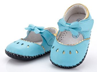 "YXY ""Bo Peep"" Blue Leather Soft Sole Shoes"